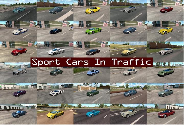 Trending mods today: Sport Cars Traffic Pack by TrafficManiac v6.1.1
