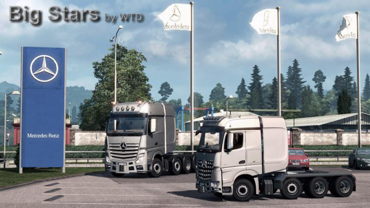 Trending mods today: Big Stars - Actros/Arocs SLT V1.6.1 1.37
