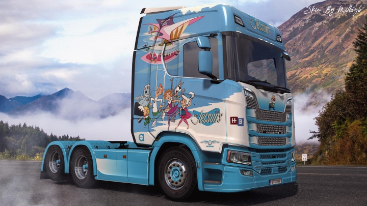 Trending mods today: The Jetsons NG Scania Skin v1.0