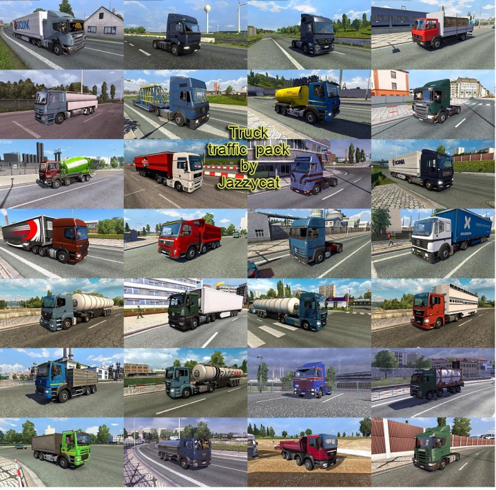 Trending mods today: Truck Traffic Pack by Jazzycat v4.3.2
