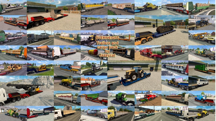 Trending mods today: Fix for Overweight Trailers and Cargo Pack by Jazzycat v8.4
