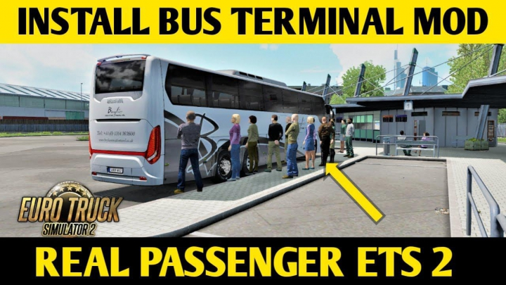 Bus terminal mod ets2 1.36 category: Maps
