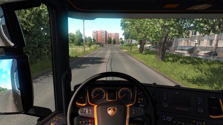 Trending mods today: Black and Orange Interior for Scania v1.0