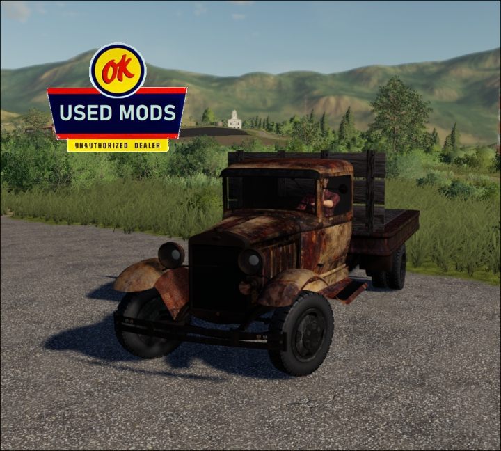 Trending mods today: 1929 Ford AA Truck Flatbed Rust Never Sleeps Edition (no bed sides) - By: OKUSEDMODS