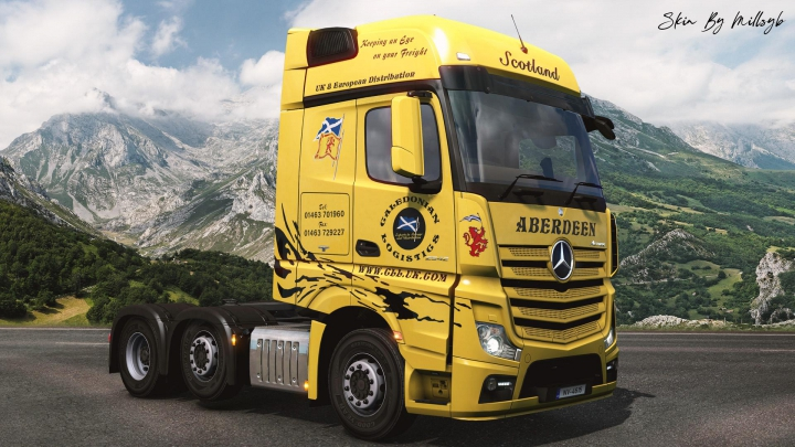 Trending mods today: Caledonian Logistics Mercedes MP4 Skin v1.0