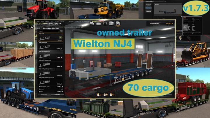 Trending mods today: Ownable overweight trailer Wielton NJ4 v1.7.3