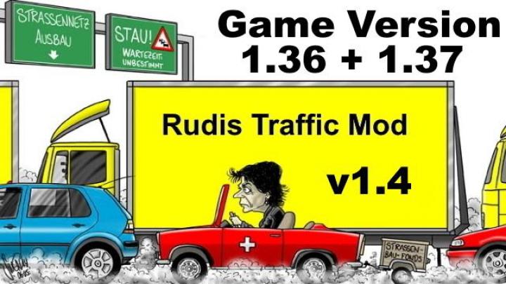 Trending mods today: Rudis Traffic Mod v1.4 1.36 + 1.37