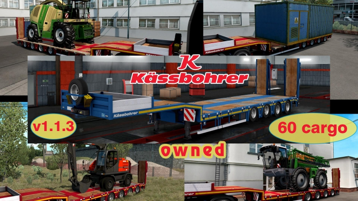 Ownable overweight trailer Kassbohrer LB4E v1.1.3 category: Trailers