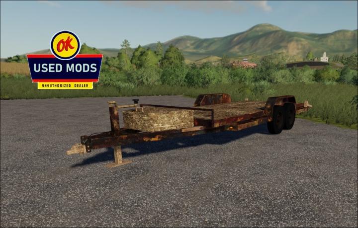 Trending mods today: Single Car Trailer - Rust Never Sleeps Edition V1 - By: OKUSEDMODS