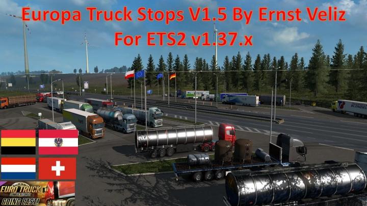 Trending mods today: Europea Truck Stop UPDATED V1.50 By Ernst Veliz