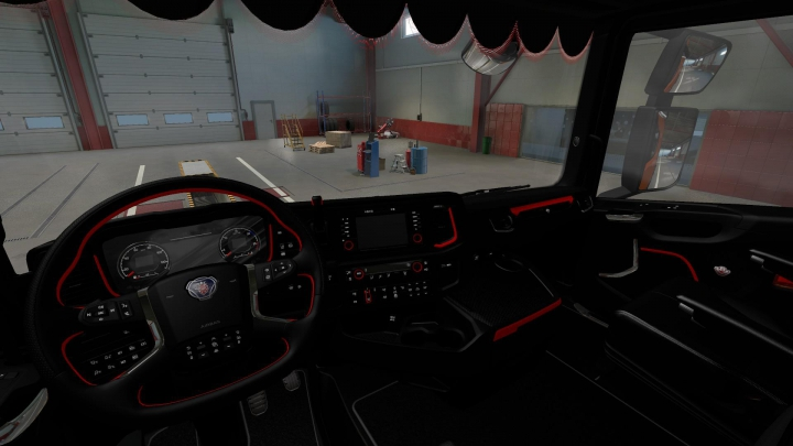 Trending mods today: Red & Dark Interior for Scania S/R 1.37
