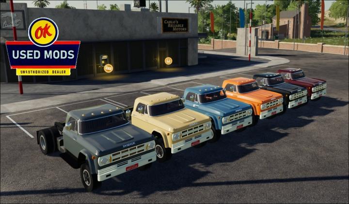 Trending mods today: Color Select - 1969 Dodge D700 V1C Semi - By OKUSEDMODS