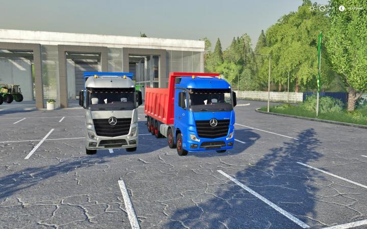 Trucks Mercedes Actros Tipper Fs19 v1.0