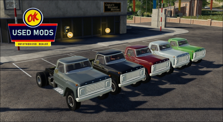 Trending mods today: Color Select - 1967 Ford F600 Semi V1C - By OKUSEDMODS