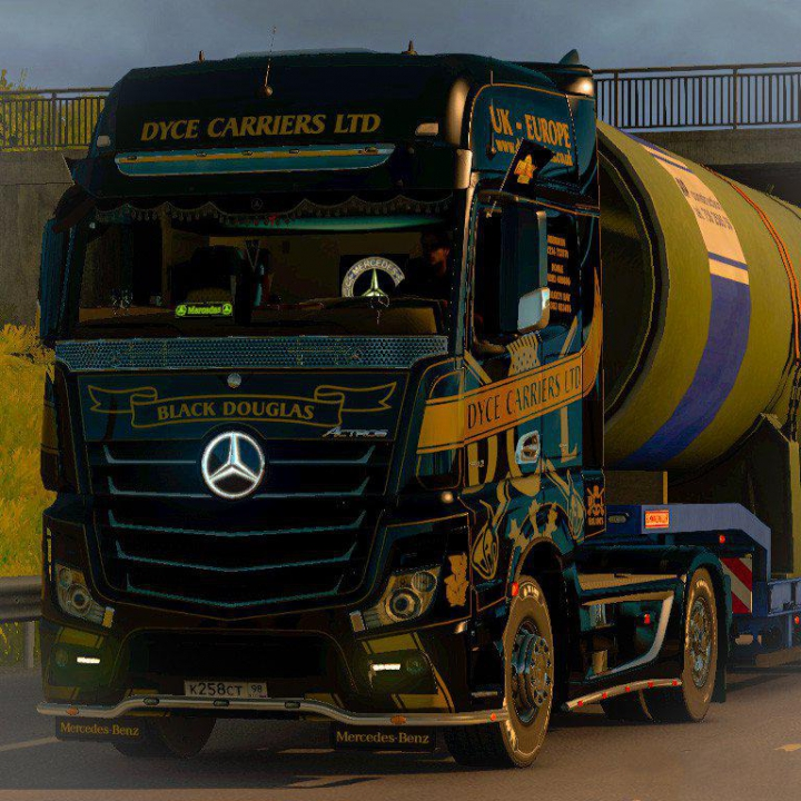 Trending mods today: Mercedes Actros MP4 Dyce Carriers skin v1.0