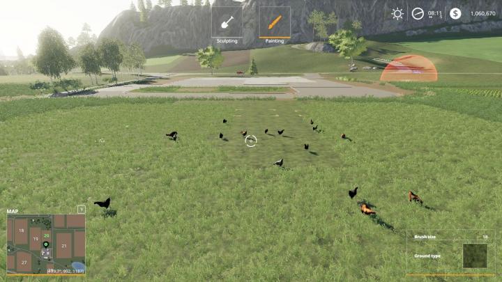 Trending mods today: FS19 Free Range Chickens v1.0