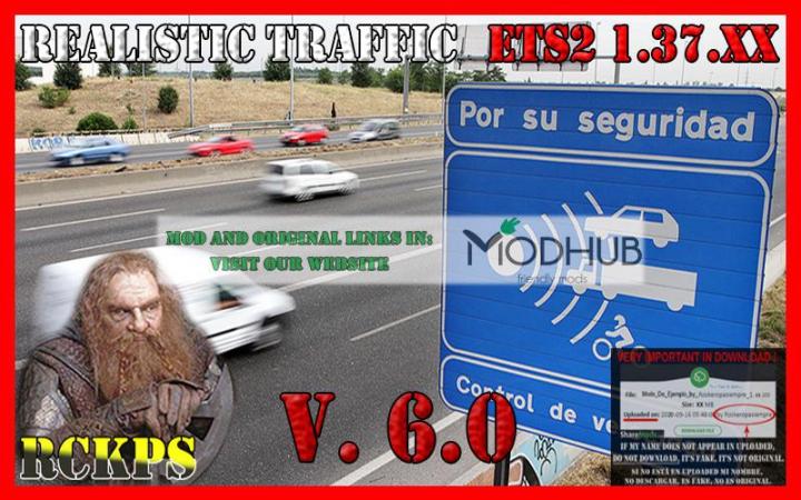Trending mods today: Realistic traffic v6.0 For ETS2 v1.37