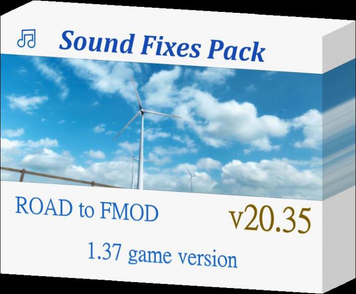 Sound Fixes Pack v20.35 ATS + ETS2 1.37 category: Sounds