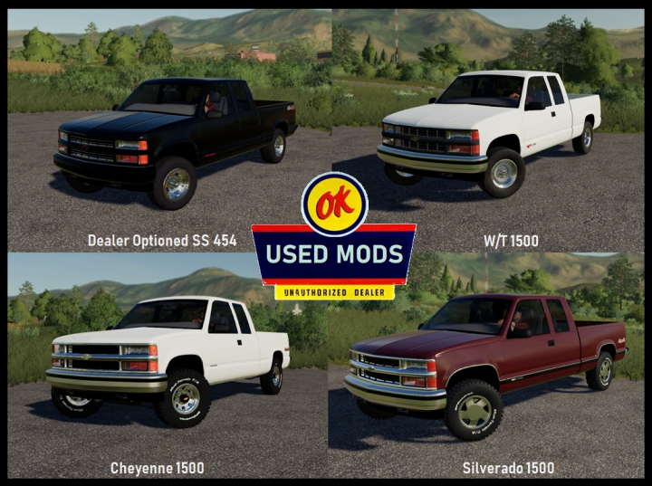 1997 Chevy 1500 With Working Tailgate and Multiple Trim options V1 - By OKUSEDMODS category: Cars