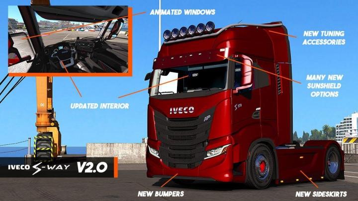 Trucks Iveco S-Way 2020 + Interior v2.0 1.37