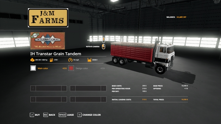 Trending mods today: International Transtar Tandem Grain Truck