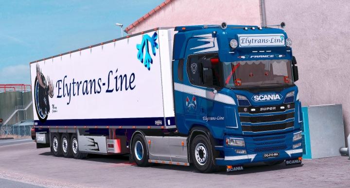 Trending mods today: Scania S Elytrans skin v1.0