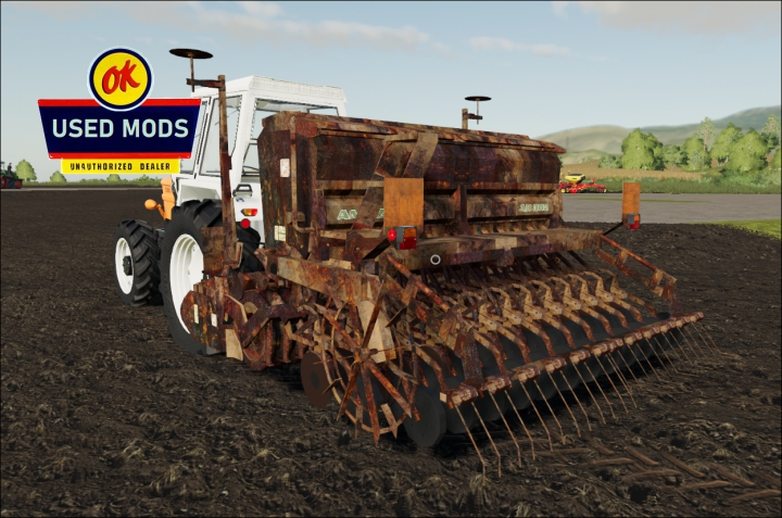 Amazon AD302 Seeder and Harrow - Rust Never Sleeps Edition V1 - By: OKUSEDMODS category: Seeder