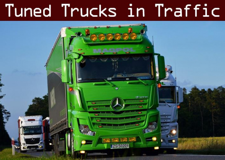 Trending mods today: Tuned Truck Traffic Pack by Trafficmaniac v2.4