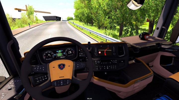 Trending mods today: Scania NextGen R&S CremeBeige Interior 1.37