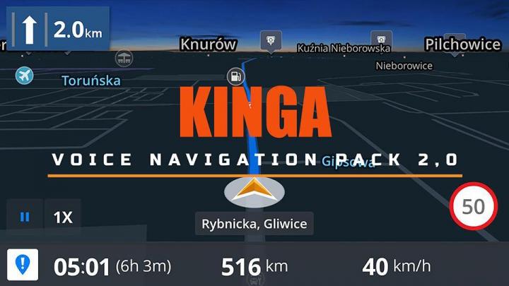 Kinga Voice Navigation Pack v2.0 category: Sounds