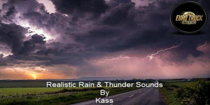 Trending mods today: Realistic Rain & Thunder Sounds v3.1 ETS2 1.37