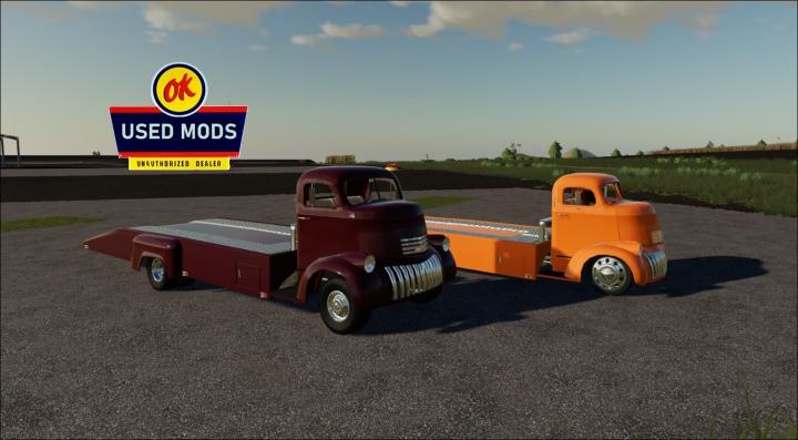 Trucks 1941 Chevy COE Car Hauler V1 -  By OKUSEDMODS