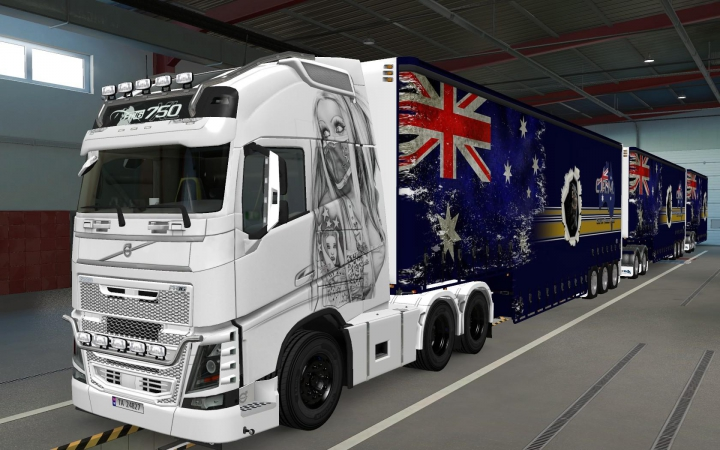 SKIN VOLVO FH16 2012 USE MASK 1.37 category: Skins