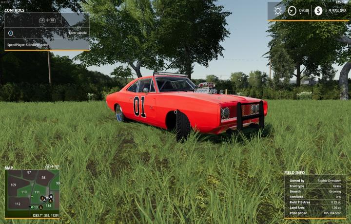 Trending mods today: FS19 Dodge Charger General Leev2