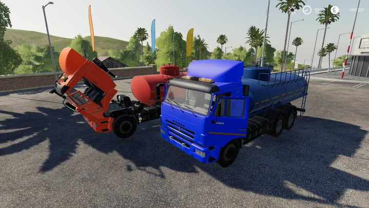 Kamaz 65115 Fuel truck v2.0 category: Trucks