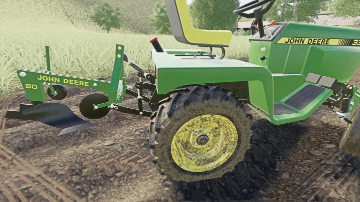 Trending mods today: John Deere Model 20 Plow for John Deere 332