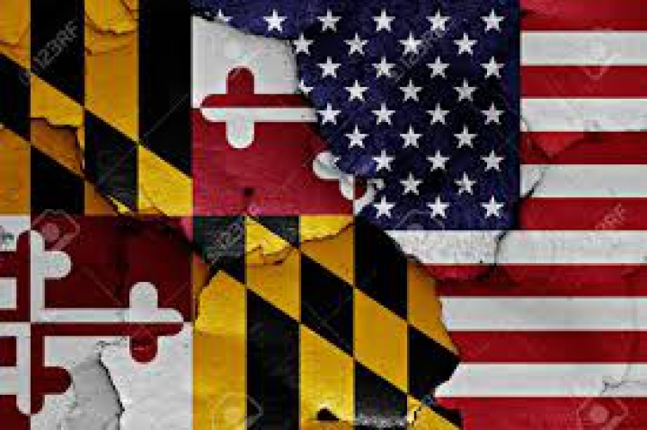 USA Flag above Maryland category: Objects