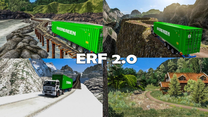 Maps New Extreme Road Fever ERF Map v2.0