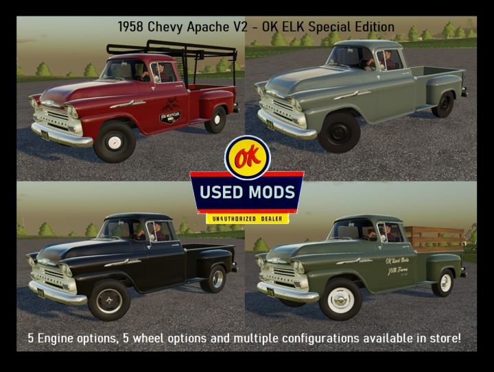 Trending mods today: 1958 Chevy Apache Stepside Update V2.0 OK ELK Special Edition By OKUSEDMODS