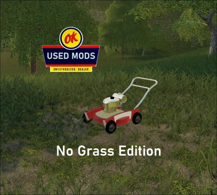 Trending mods today: Retro Push Mower The Atomic - NO GRASS V1 - By OKUSEDMODS