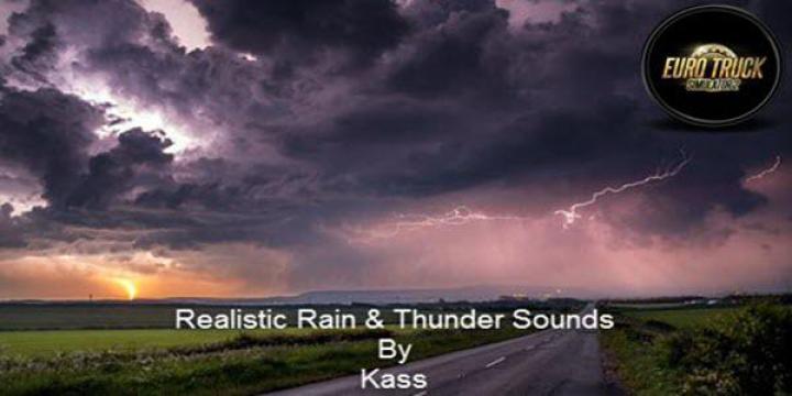 Realistic Rain & Thunder Sounds v3.3 ETS2 1.38 category: Other