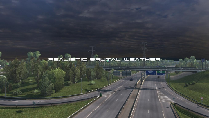 Realistic Brutal Weather V5.4 ETS2 1.38 category: Other