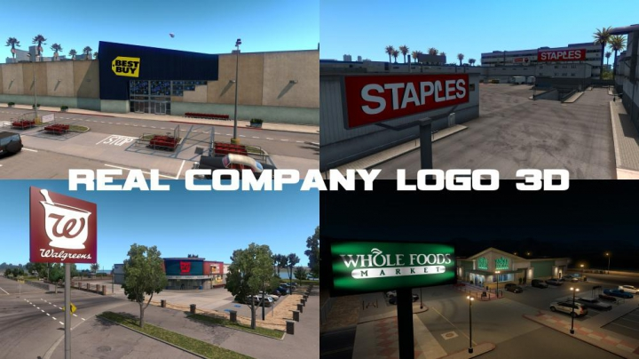 Trending mods today: REAL COMPANY LOGO 3D V1.7
