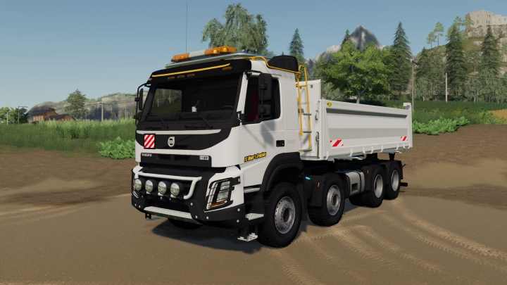 Trending mods today: Volvo FMX 8x4 FS Miner's White Editon