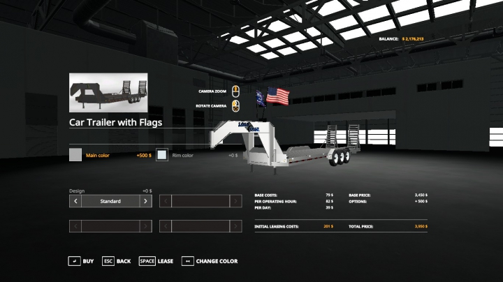 Trending mods today: LoadTrail TriAxl With Flags