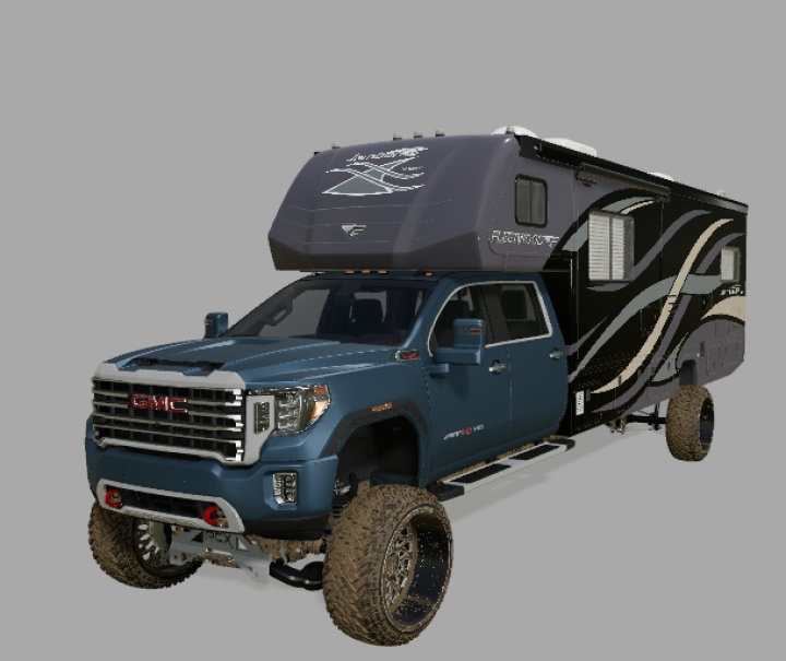 Trending mods today: FS19 2020 GMC 2500 Camper Edition FIXED FILE
