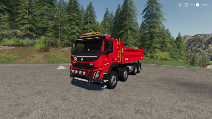 Trending mods today: Volvo FMX 8x4 FS Miner's Red Editon