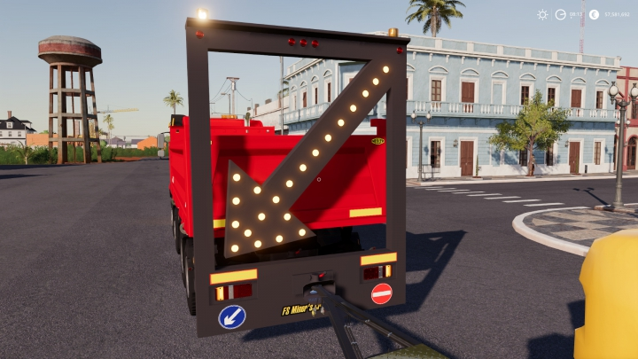 Trending mods today: Public works Rear Sign For Trucks