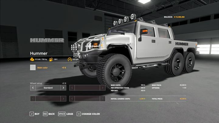 Cars Hummer H2 6X6