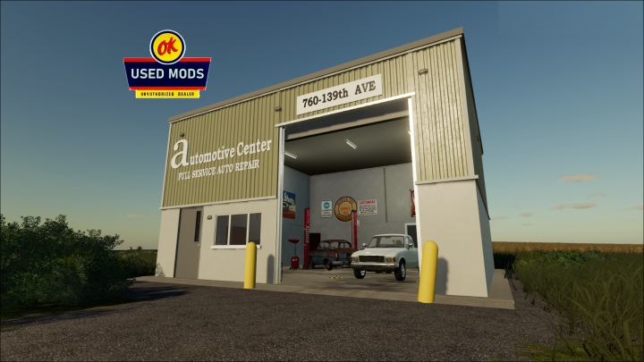 Trending mods today: Automotive Center - Local Garage With Workshop By OKUSEDMODS